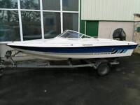 15ft fletcher Arrowflash boat with 90hp Mercury outboard