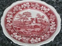 "Antique Copeland Spode's Tower England Pink 10.5"" Plate - Perfect Condition"