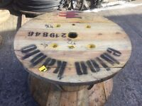 Up cycle ! wooden cable drums good solid drums for up cycle into tables etc , various sizes