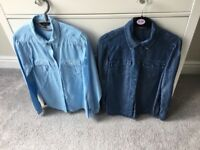2 x Womens Denim Shirts size 8-12