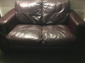 FREE 2 brown leather sofas