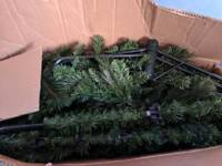 "7ft 6"" green Christmas tree! With free decorations baubles etc"