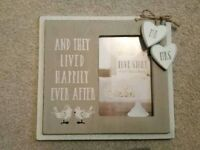 "Wedding photo frame 6""x4"""