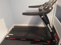 Reebok treadmill £225, with incline, ipod connection, safety switch, great condition bought for £600