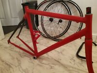 Carbon and Aluminium Bike frame & other parts - £150