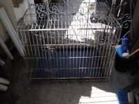 """dog cage 36"""" x 24"""" height 28"""" 2 openings some rust"""