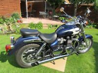 2010 TRIUMPH BONNEVILLE AMERICA BLUE - Mint Condition, 12 Months MOT