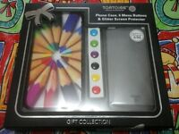 TORTOISE Phone case, 6 menu buttons, screen protector gift collection, brand new for iPhone 5 / 5S