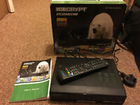 Icecrypt HD Satellite & Terrestrial Receiver/PVR, boxed and in good condition