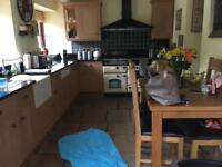 Complete kitchen with range cooker,American f/f and granite work tops