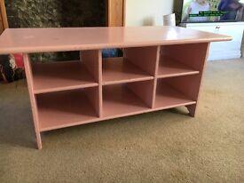 Hardwood Coffee table painted light pink