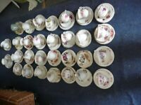 30 Mismatch Cups Saucers and Side Plates
