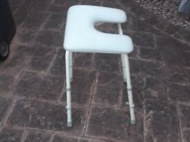 disabled shower stool,adjustable legs,not been used,as new condition.