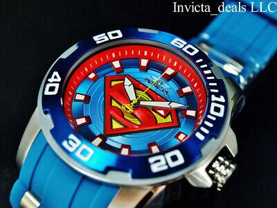 Invicta Men's 50mm DC Comics SCUBA SUPERMAN Limited Edition Blue/Red SS Watch