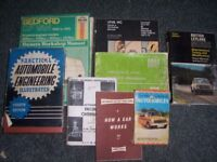 selection of old motoring books/manuals