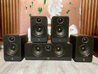 Used, Q Acoustics 2010 + 2000c 5.0 home theatre / HiFi speakers set for sale  Maida Vale, London