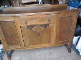 Antique old sideboard