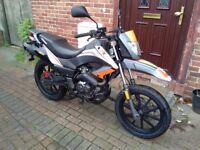 2012 Keeway TX 125 super moto, 1 year MOT, very low mileage, great runner, bargain, not cbf xr xt