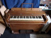 Welsh portable harmonium (pump organ).