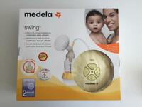 medela swing single electric 2 phase breast pump with additional breast shield