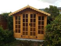 8x8 SUMMER HOUSE £929 (ALL SIZES) 50mm x 38mm frame, 14mm finish (FREE DELIVERY & INSTALLATION)