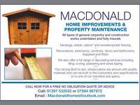 Macdonald Home Improvements. *Windows*Doors*Sheds*Renovations*Bathrooms*Decoration*Extensions*
