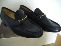Mens Leather slip on dress shoes with chain detail. Size 9
