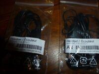 2 x Brand new Samsung AAEP485DBE Stereo Handsfree – Black