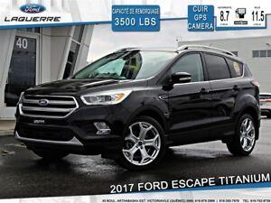 2017 Ford Escape TITANIUM**AWD*CUIR*GPS*TOIT*CAMERA*BLUETOOTH**