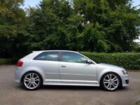 AUDI S3 2009/09 S-TRONIC PADDLE SHIFT FACELIFT DRL'S 360 BHP STAGE 3 MILTEK FLAT BOTTOM !!!£10995