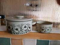 Hornsea pottery casserole and bowl