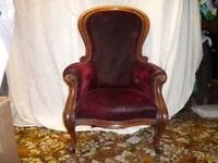 VICTORIAN SPOON BACK CHAIR