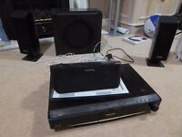 Panasonic Blu ray Home Theatre system, with Subwoofer, Remote & Manual Model SC-BT100
