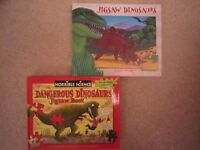 DINOSAUR JIGSAW /FACT BOOKS – 2 x NEW - and other puzzles