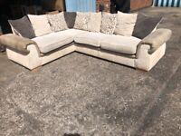 Jumbo cord corner sofa