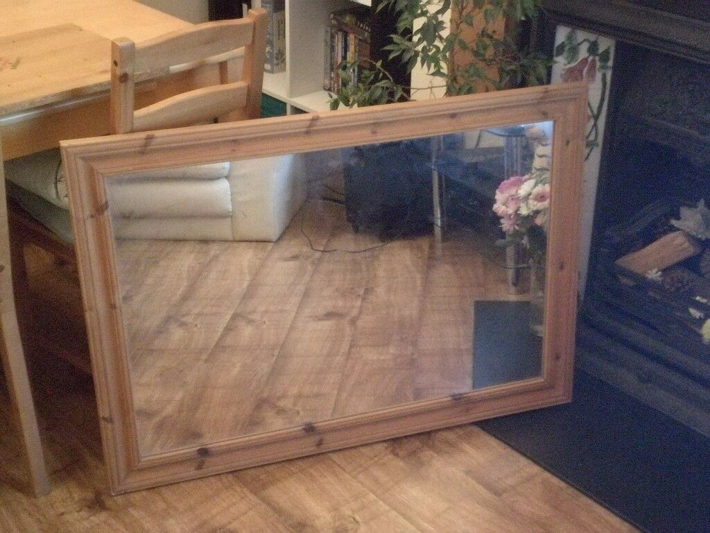Large wood framed mirror (104x71cm) - St George, Bristol