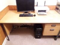 Office desk with side drawers