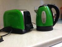 Swan kettle and toaster-green