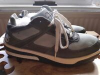 MEN'S TIMBERLAND TRAINER STYLE BOOTS, SIZE 8.5, DARK GREY AND PALE BLUE, £20.00