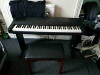 Yamaha keyboard and Yamaha stool perfect condition really good for bigginers or experienced players