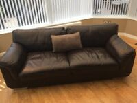 Brown Leather Sofa in Really Good Condition.