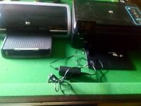 A hp deskjet 5650 printer and a hp scanner and printer and more