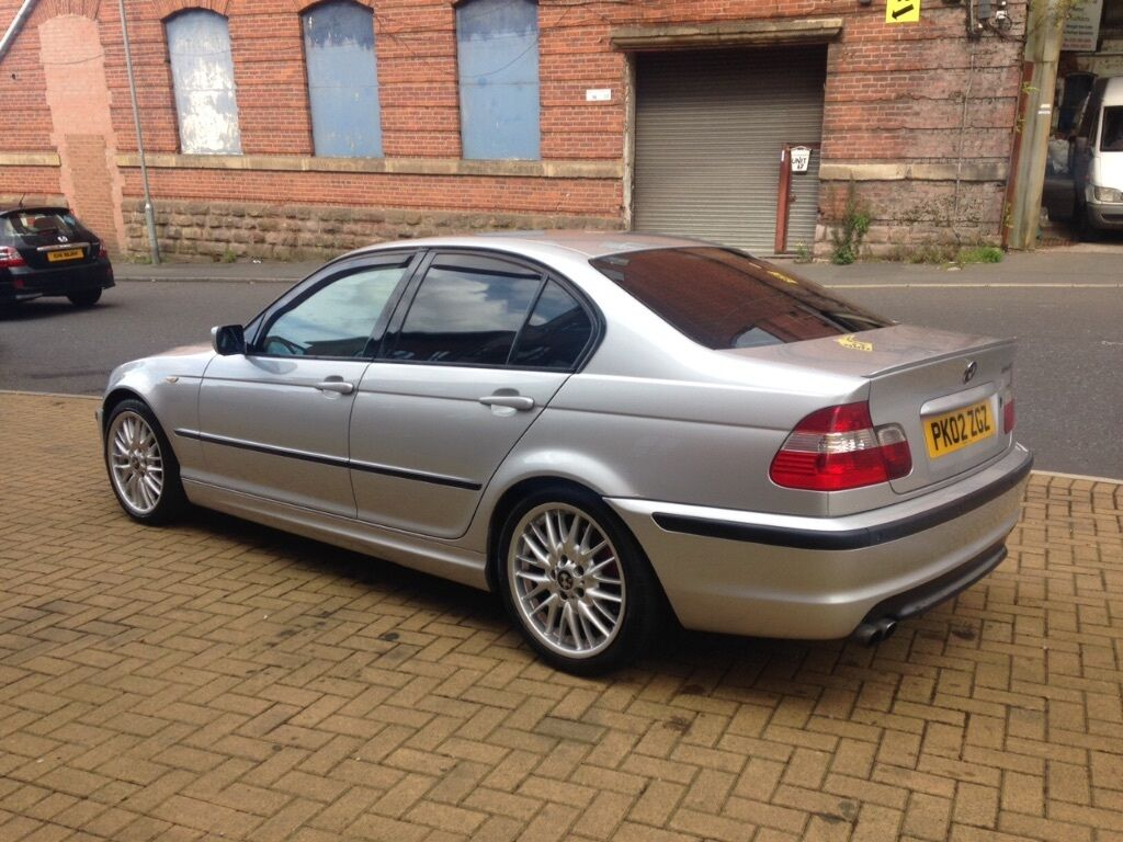 2002 bmw e46 330i m sport saloon silver rare smg gearbox. Black Bedroom Furniture Sets. Home Design Ideas