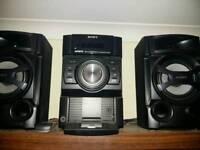 Sony stereo and speaker