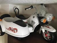 Battery motorbike and sidecar