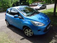 Lovely well looked after ford ka in metallic blue style plus with aircon,bluetooth handsfree,cd,