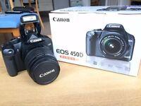 Canon EOS 450D 12MP 18-55mm DSLR digital camera kit