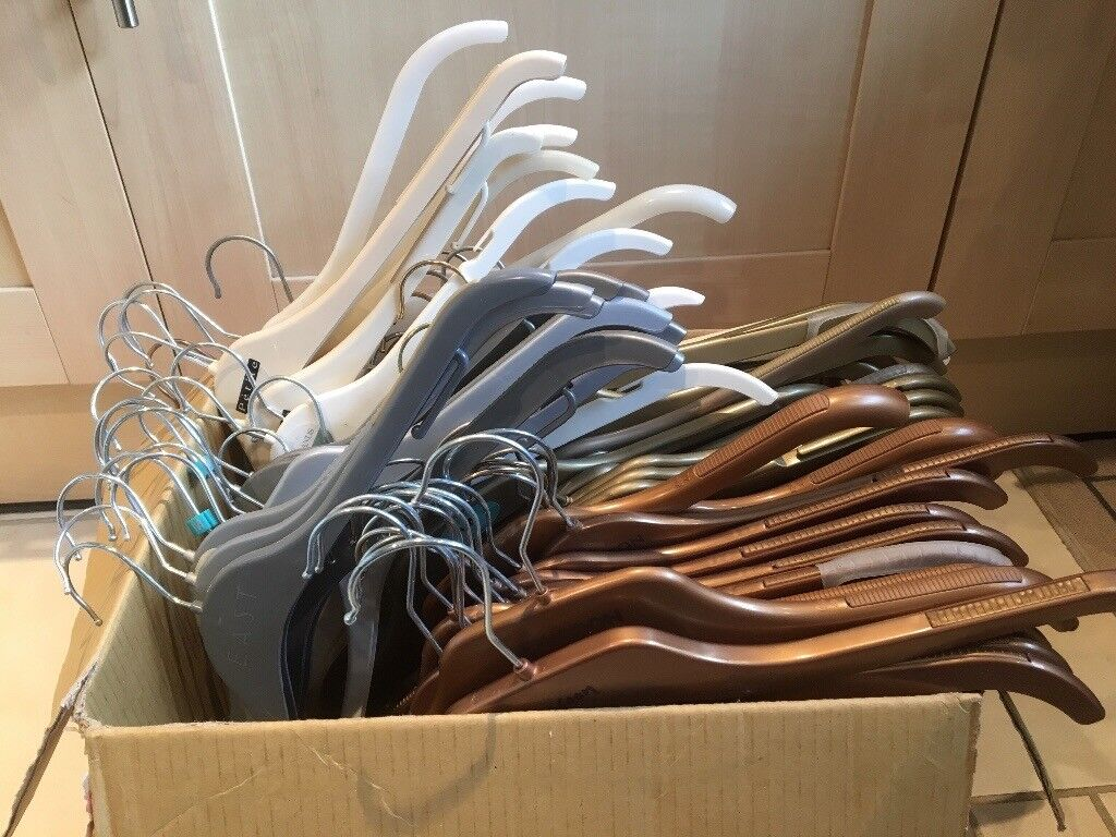 51 Assorted ex-retail Plastic Clothes Hangers