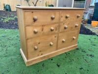 Solid chunky pine chest of drawers. Extra deep. Dovetail Joints. Possible delivery