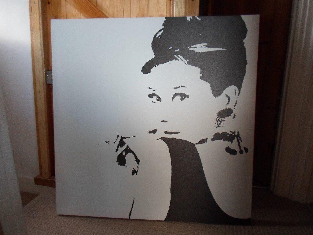 Audrey Hepburn Ikea Canvas Very Large Black White